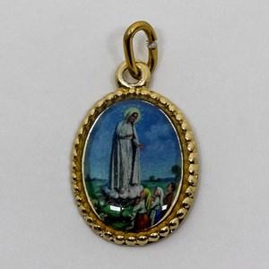 Medalha foto de Nossa Senhora de Fátima (pacote com 100 medalhas)