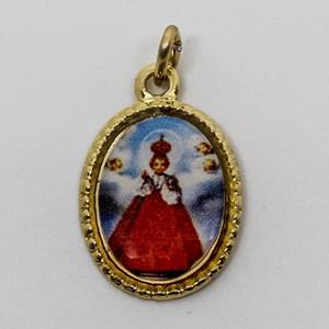 Medalha foto de Menino Jesus de Praga (pacote com 100 medalhas)