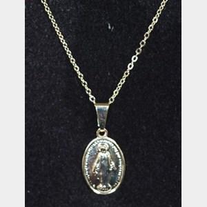Corrente dourada com pingente Nossa Senhora Aparecida
