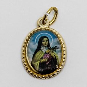 Medalha foto da Santa Terezinha das Rosas (pacote com 100 medalhas)