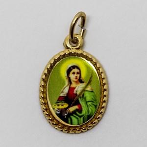 Medalha foto de Santa Luzia (pacote com 100 medalhas)