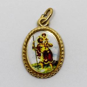 Medalha foto de São Cristóvão (pacote com 100 medalhas)