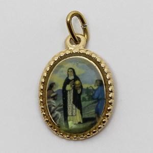 Medalha foto de Santa Edwiges (pacote com 100 medalhas)