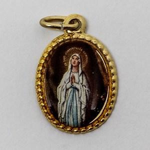 Medalha foto de Nossa Senhora de Lourdes (pacote com 100 medalhas)