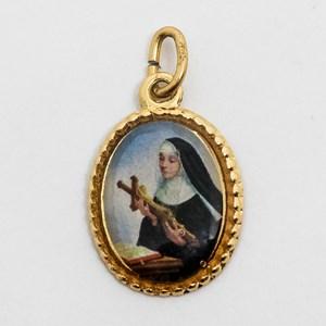 Medalha foto de Santa Rita (pacote com 100 medalhas)