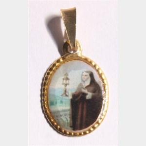 Medalha foto de Santa Clara (pacote com 100 medalhas)