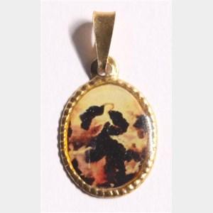 Medalha foto de Nossa Senhora desatadora dos Nós