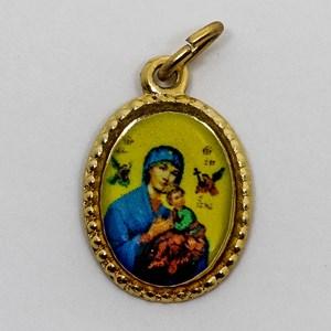 Medalha foto de Nossa Senhora do Perpétuo Socorro (pacote com 100 medalhas)