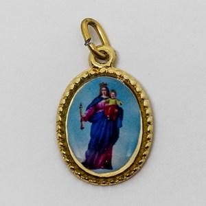 Medalha foto de Nossa Senhora Auxiliadora (pacote com 100 medalhas)