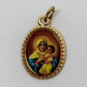Medalha foto de Consagração a Nossa Senhora - Mãe Rainha (pacote com 100 medalhas)