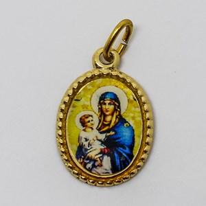 Medalha foto de Nossa Senhora da Saúde (pacote com 100 medalhas)