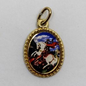 Medalha foto de São Jorge (pacote com 100 medalhas)