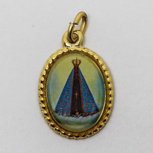 Medalha foto de Nossa Senhora Aparecida (pacote com 100 medalhas)