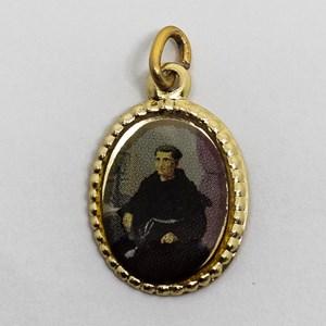 Medalha foto de Santo Frei Antonio de Santana Galvão (pacote com 100 medalhas)