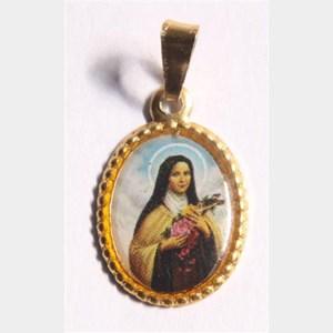Medalha foto de Santa Terezinha (pacote com 100 medalhas)