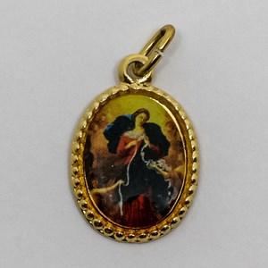 Medalha foto de Nossa Senhora desatadora dos Nós (pacote com 100 medalhas)