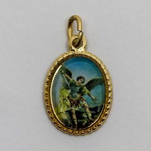 Medalha foto de São Miguel Arcanjo (pacote com 100 medalhas)
