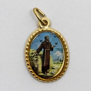 Medalha foto de São Francisco de Assis (pacote com 100 medalhas)