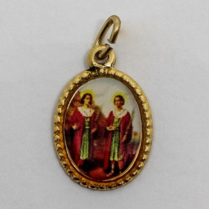 Medalha foto de Cosme e Damião (pacote com 100 medalhas)